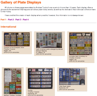 [Gallery of Plate Displays]