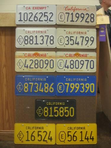California exempt plates