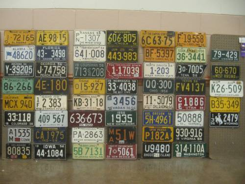 1956 license plates