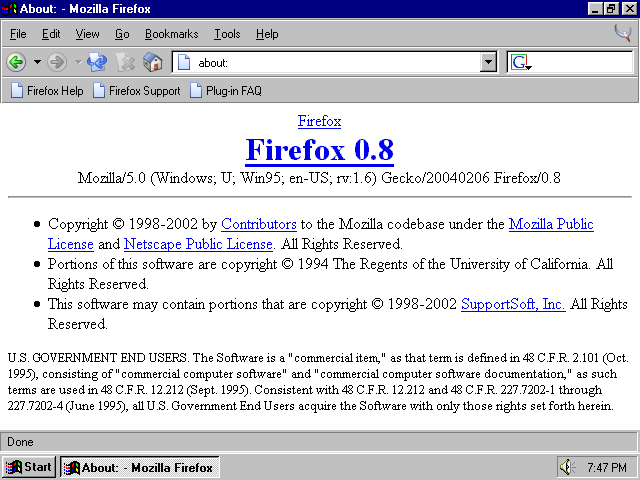 A Visual Browser History, from Netscape 4 to Mozilla Firefox - Part
