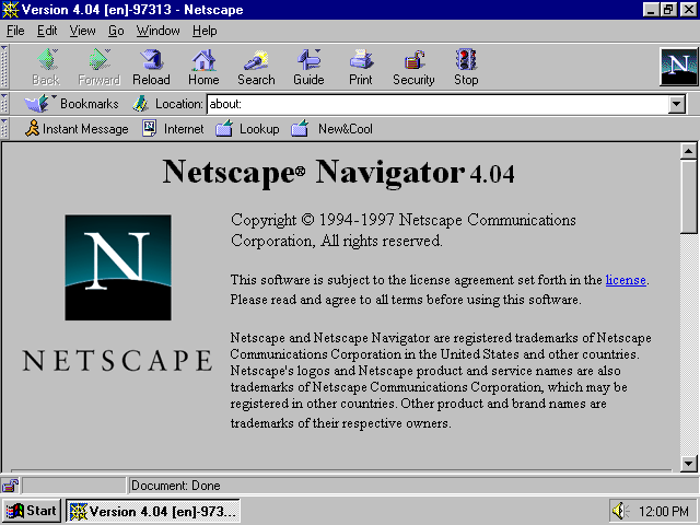 a visual browser history from netscape 4 to mozilla
