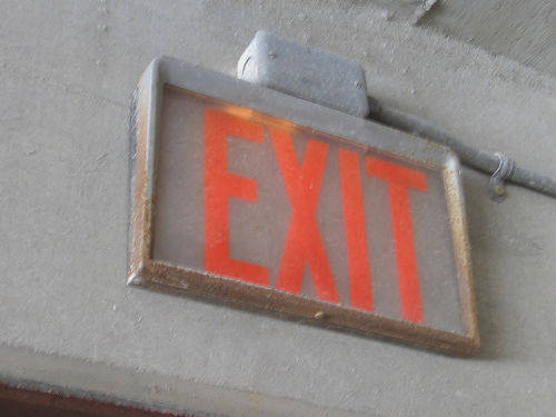 [Exit sign - Milwaukee, Wisconsin]
