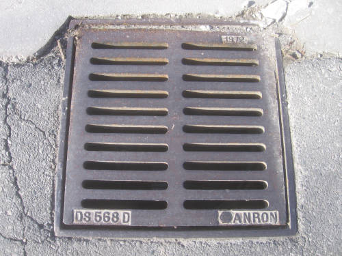 [London sewer grate]