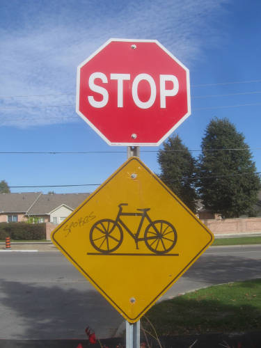 [Stop Spokes signs]