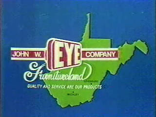 [WSWP-TV 1988 capture - John W. Eye Company Furnitureland]