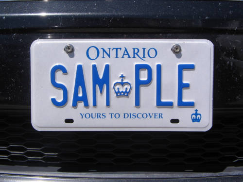 [Acton, Ontario licence plate meet]