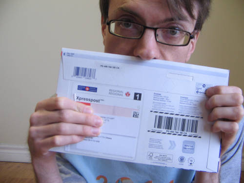 [A big envelope from Ottawa]