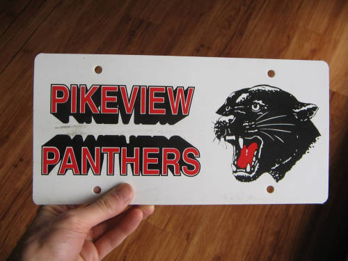 [PikeView High School decorative pseudo-license plate]