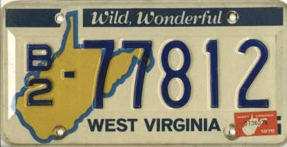 West Virginia Non Penger Plates