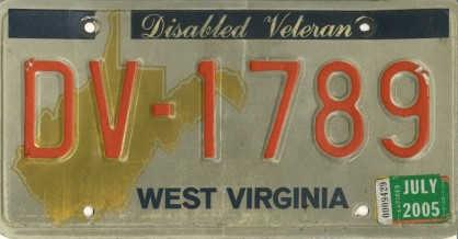 West Virginia License Plate DV-1789 & Antique Plates Virginia \u0026 West Virginia License Plate DV-1789