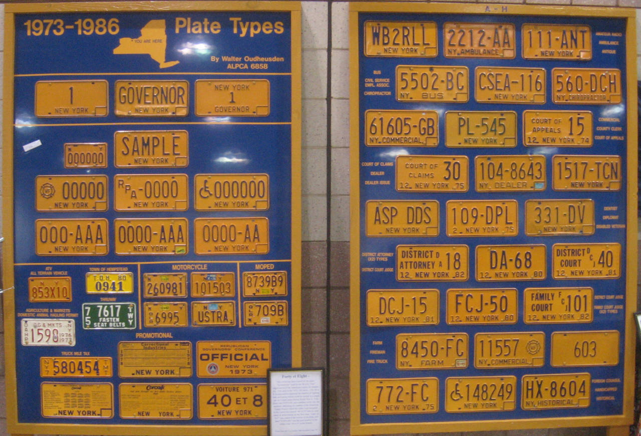 Gallery Of Plate Displays Part 4 The Andrew Turnbull License Plate Gallery