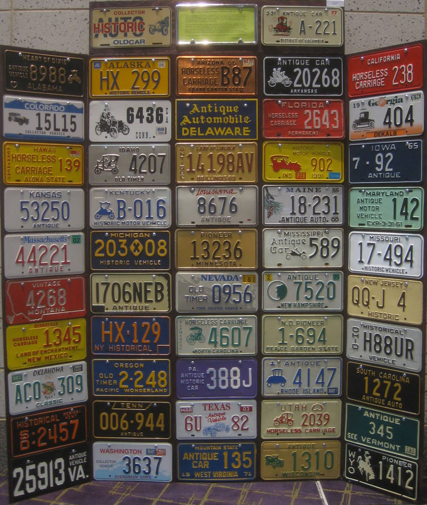 Gallery of Plate Displays, Part 2 - The Andrew Turnbull License ...
