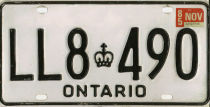 [Ontario truck plate with narrow die]