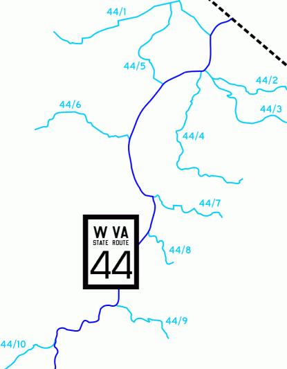 [WV fractional county highways]