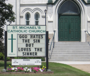 [Catholic Church Marquee in Whitelaw]